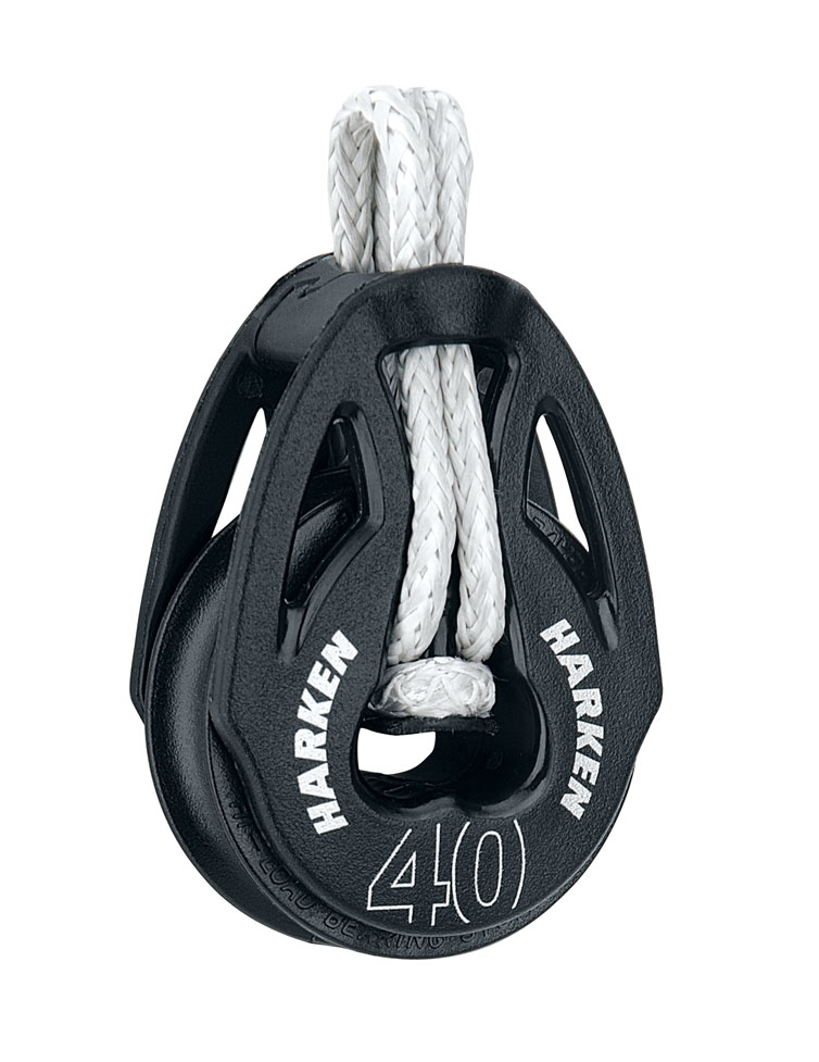 Harken 2148 40mm Carbo T2 Loop Soft-Attach Block for Sailing Dinghy Boat