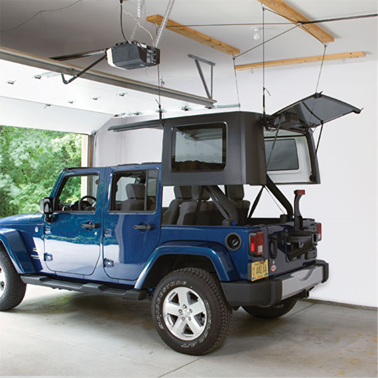 JEEP Hard Top Hoister Storage System — 45-145 lb Load/10'